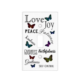 Fruit of the Spirit Bible Verse Butterfly Light Switch Cover