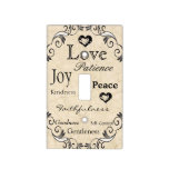 Fruit Of The Spirit Bible Verse Light Switch Cover at Zazzle