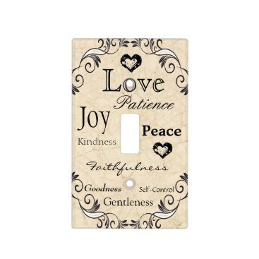 RiverJude Fruit of the Spirit Bible Verse Light Switch Cover