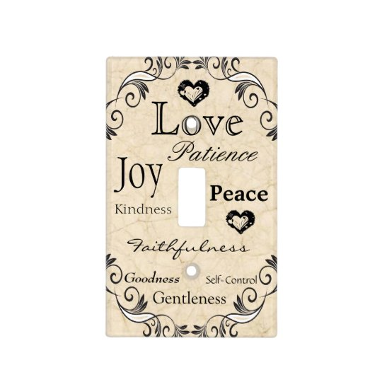Fruit of the Spirit Bible Verse Light Switch Cover
