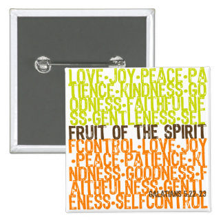 Fruit of the Spirit 2 Inch Square Button