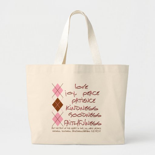 fruit of the spirit canvas bags