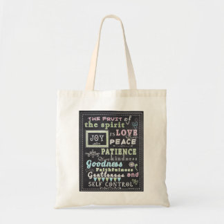 Fruit Of The Spirit, Chalkboard Look Tote