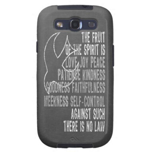 Fruit of the Spirit Chalkboard Look with Dove Samsung Galaxy S3 Covers