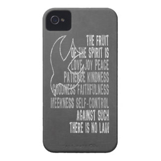 Fruit of the Spirit Chalkboard Look with Dove iPhone 4 Case-Mate Case