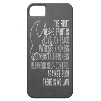 Fruit of the Spirit Chalkboard Look with Dove iPhone 5 Cover