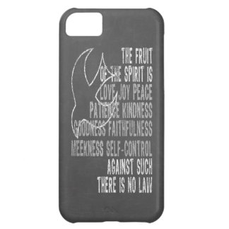 Fruit of the Spirit Chalkboard Look with Dove iPhone 5C Case