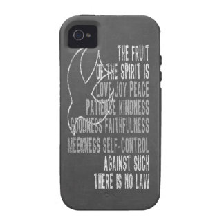 Fruit of the Spirit Chalkboard Look with Dove iPhone 4/4S Cases