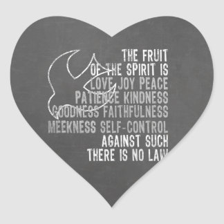 Fruit of the Spirit Chalkboard Look with Dove Heart Sticker