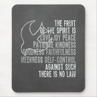Fruit of the Spirit Chalkboard Look with Dove Mouse Pad
