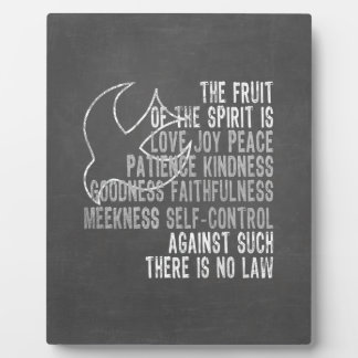Fruit of the Spirit Chalkboard Look with Dove Plaque