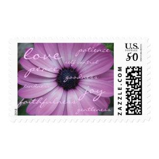 Fruit of the Spirit Christian Purple Daisy Stamp 2