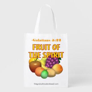 Fruit of the Spirit Christian Reusable Grocery Bag