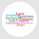 Fruit of the Spirit Classic Round Sticker