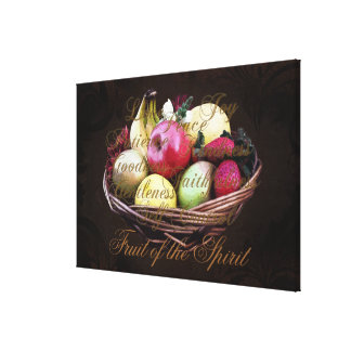 Fruit of the Spirit, Colorful Christian Wall Art Stretched Canvas Prints