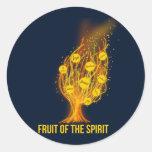 Fruit of the Spirit - Galatians 5:22-23 Classic Round Sticker