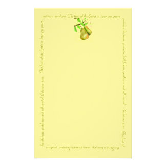 Fruit of The Spirit Gold Stationary Stationery