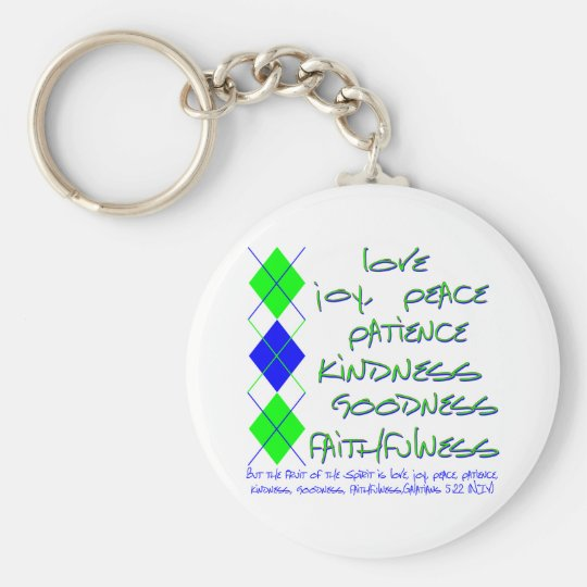 fruit of the spirit green and blue keychain