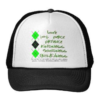 fruit of the spirit green trucker hat