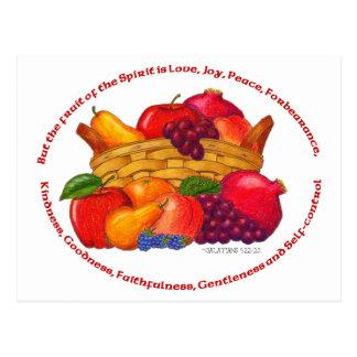 Fruit of the Spirit Inspirational Postcard