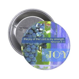 Fruit of the Spirit joy 2 Inch Round Button