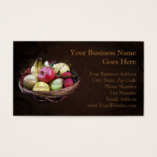 Fruit of the Spirit, Painted Brown Basket Business Card