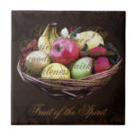 Fruit of the Spirit, Painted Brown Basket Tile