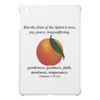 Fruit of the Spirit Peach / Apricot Bible Verse Cover For The iPad Mini