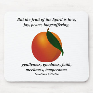 Fruit of the Spirit Peach / Apricot Bible Verse Mouse Pad
