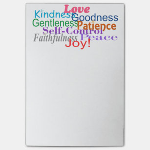 Fruit of the Spirit Post-it Notes