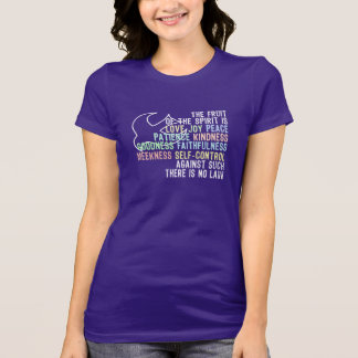Fruit of the Spirit Scripture With Dove T Shirt