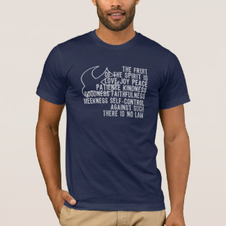 Fruit of the Spirit Scripture With White Dove T-Shirt