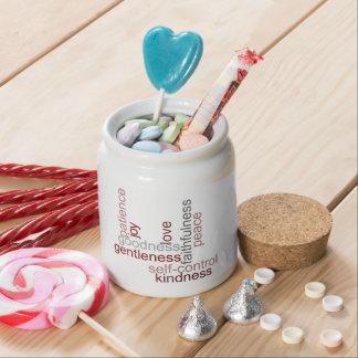 Fruit of the Spirit Word Art Candy Jar