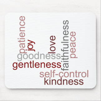 Fruit of the Spirit Word Art Mouse Pad