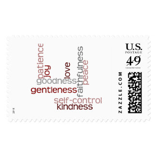Fruit of the Spirit Word Art Postage Stamps