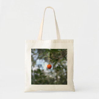 Fruit of the tree of madroño in the mountain range budget tote bag