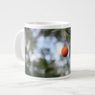 Fruit of the tree of madroño in the mountain range giant coffee mug