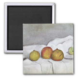 Fruit on a Cloth, c.1890 2 Inch Square Magnet
