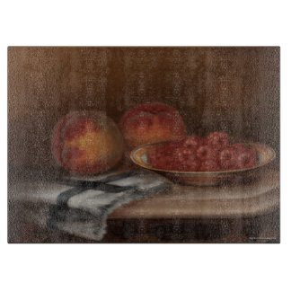 Fruit on a Table Cutting Board