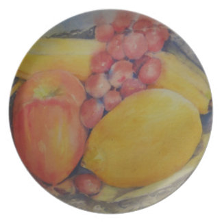 Fruit on Silver Tray Plate