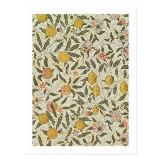Fruit or Pomegranate wallpaper design Postcard