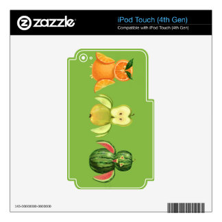 Fruit owls iPod touch 4G decal