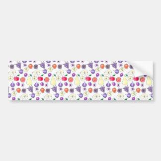 Fruit pattern bumper sticker