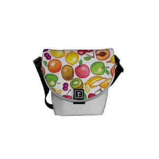 Fruit Pattern Courier Bag