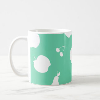 Fruit pattern covered mug