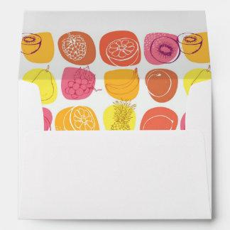 Fruit pattern envelope