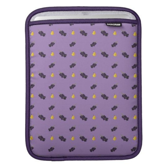 fruit pattern grapes and pears iPad sleeve