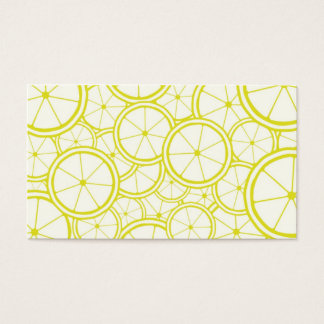 Fruit Pattern - Lemons Business Card