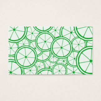 Fruit Pattern - Limes Business Card