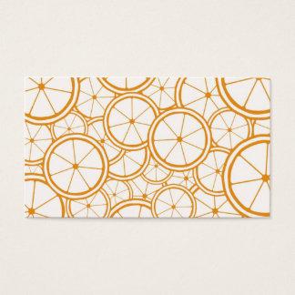 Fruit Pattern - Oranges Business Card
